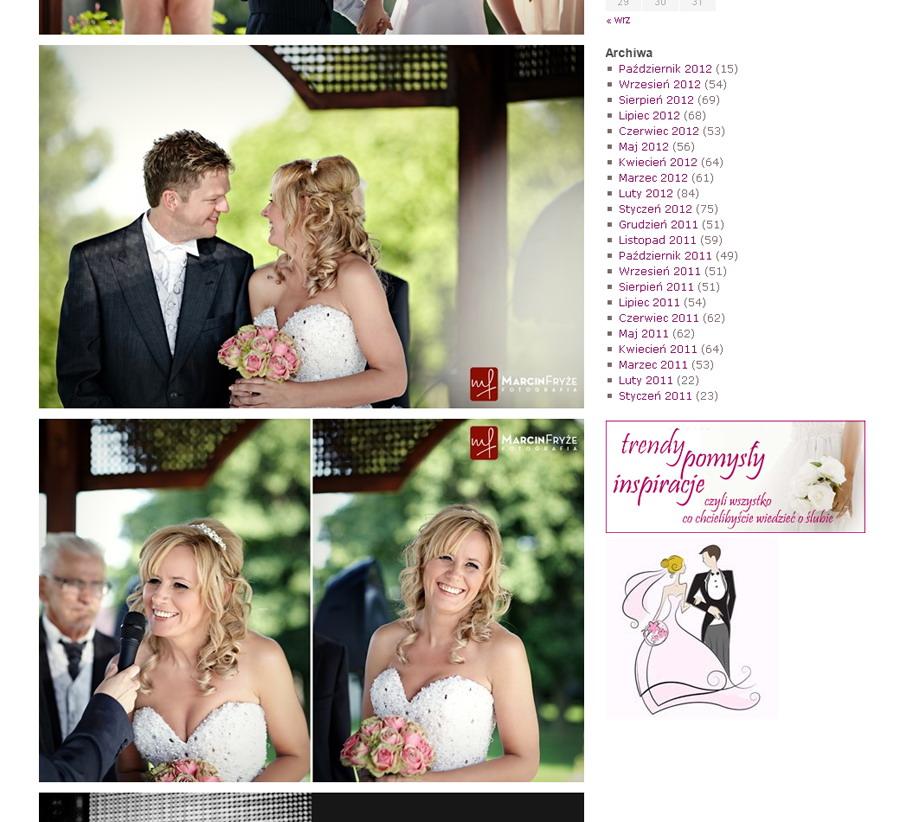 fotografia slubna    Ślub w plenerze i różowe róże, czyli publikacja na Białych Inspiracjach