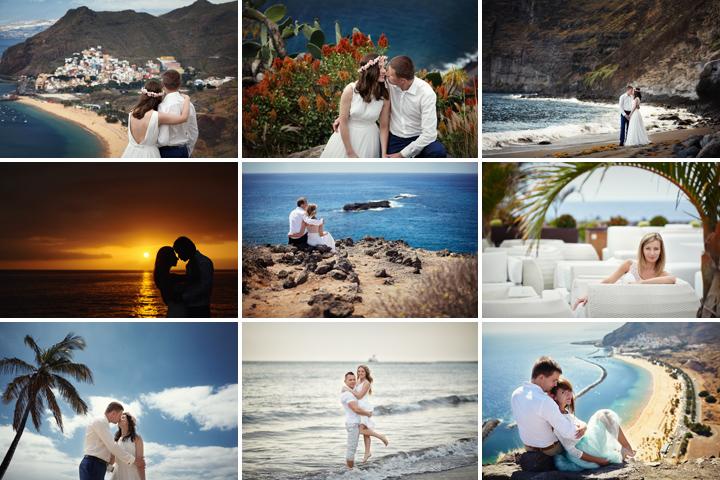 Zdjęcia ślubne Teneryfa